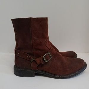 Frye Engineer harness side zip ankle boots